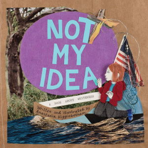 Not My Idea artistic cover of person holding a flag