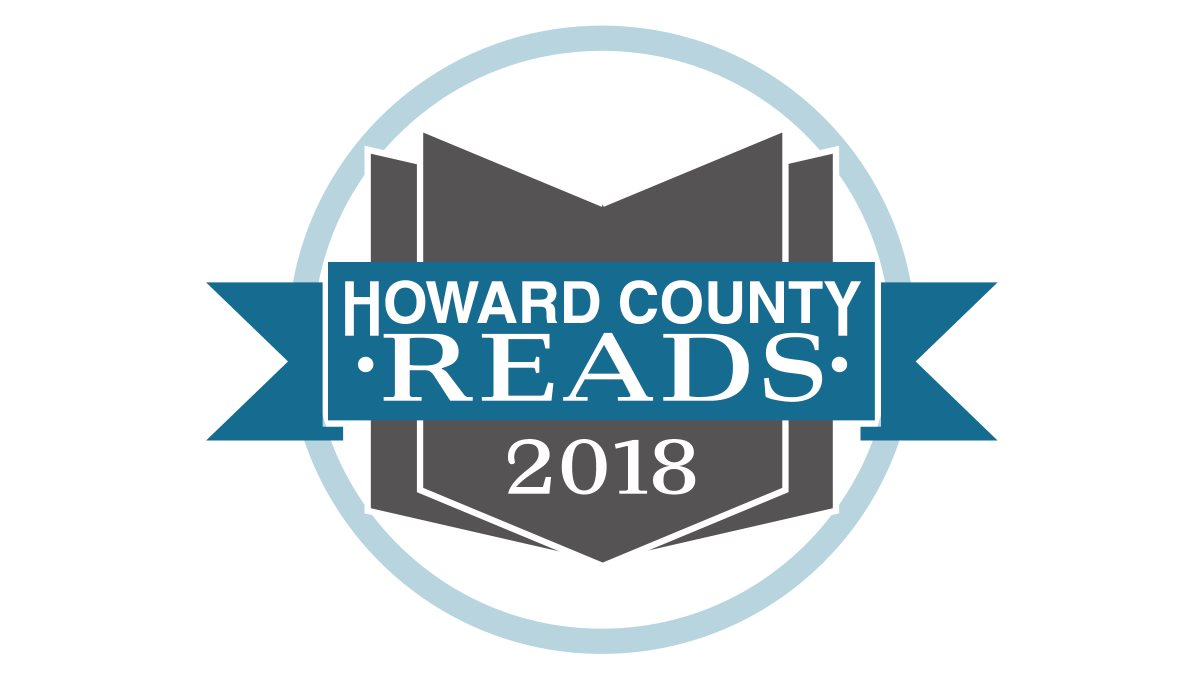 Green Frankenstein Head with text surrounded by a black border. The text reads 2018 Howard County Reads One State Slash One Story Frankenstein 200th Birthday