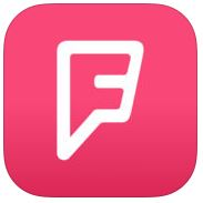 Foursquare app logo from app store