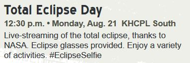 Total Eclipse Day KHCPL South 8-21-17 12:30pm