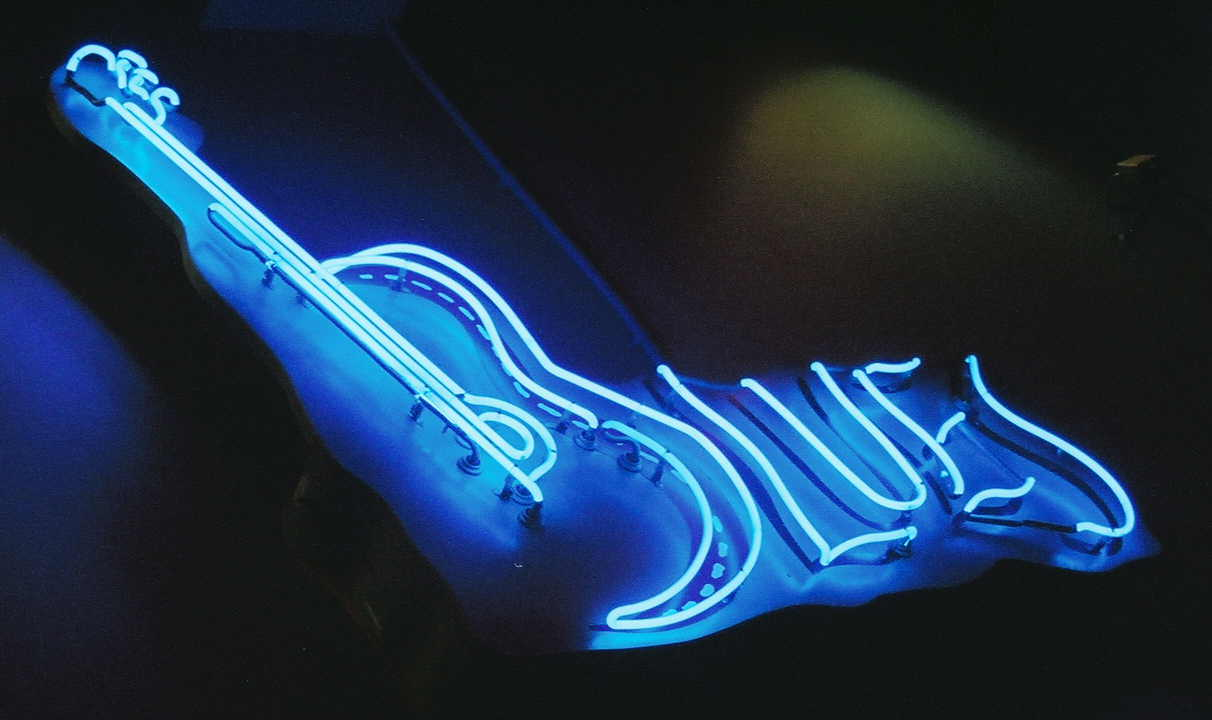 blues neon sign