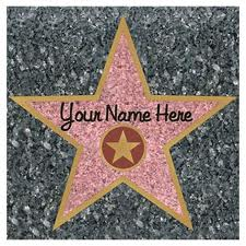 Walk of fame star with the text your name here